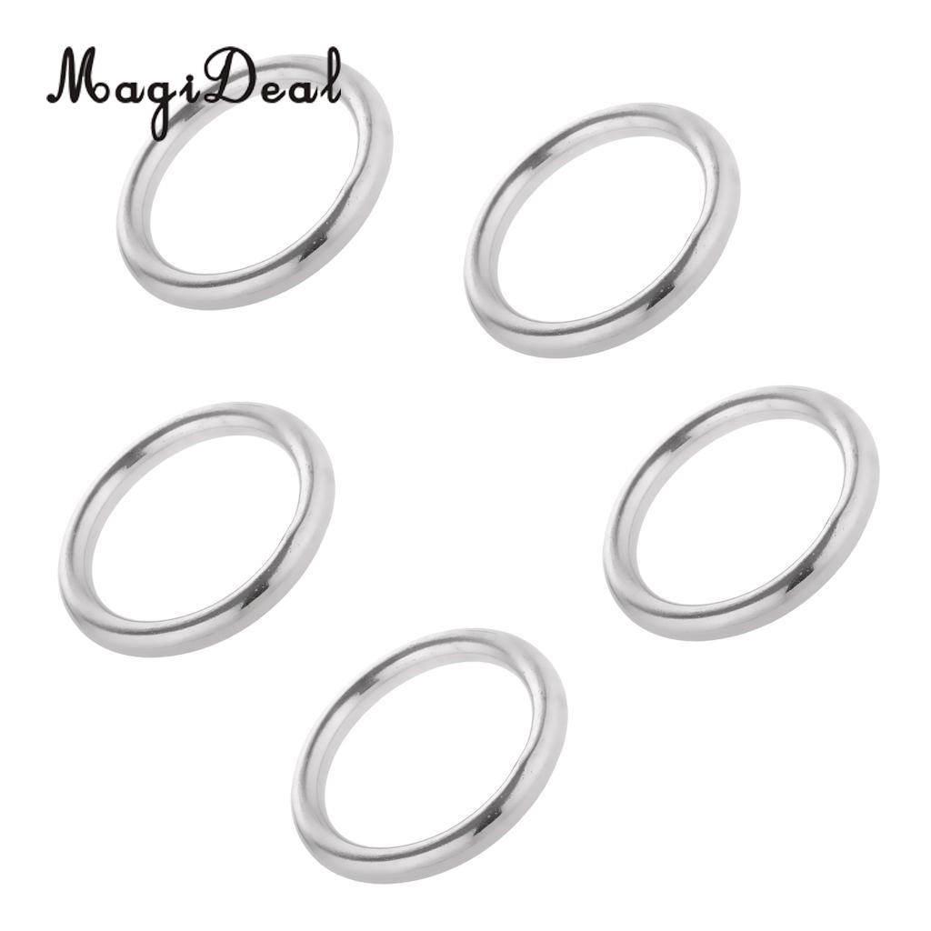Magideal 5 X Welded Ring 304 Stainless Steel O Round Rings