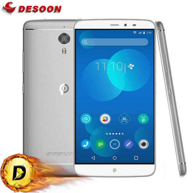 PPTV KING 7/7S Helio X10 Octa Core 6 inch Smartphone 2.5D IPS 2K Screen 2560x1440 3GB+32GB 4G LTE Game Music Moive Mobile phone
