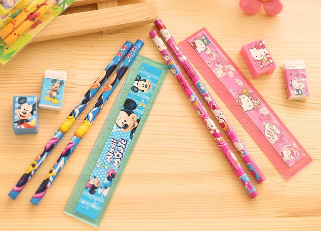 2619709734_1758922470  10packs/lot 5 in One Disny Mickey Snowwhite Kitty Pencil Writing Pen Stationery Kits Children Birthday Occasion Favor Take-home Items HTB1 SKTNpXXXXavaXXXq6xXFXXXe