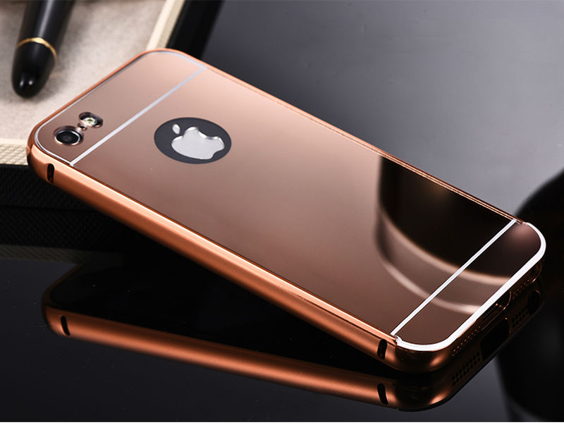 5S מראה אלומיניום מקרה עבור iPhone 5 5 5 תפוחים חם אופנה זהב, כסף, אלומיניום טלפון נייד אקריליק המקרים כיסוי עבור iPhone5 s