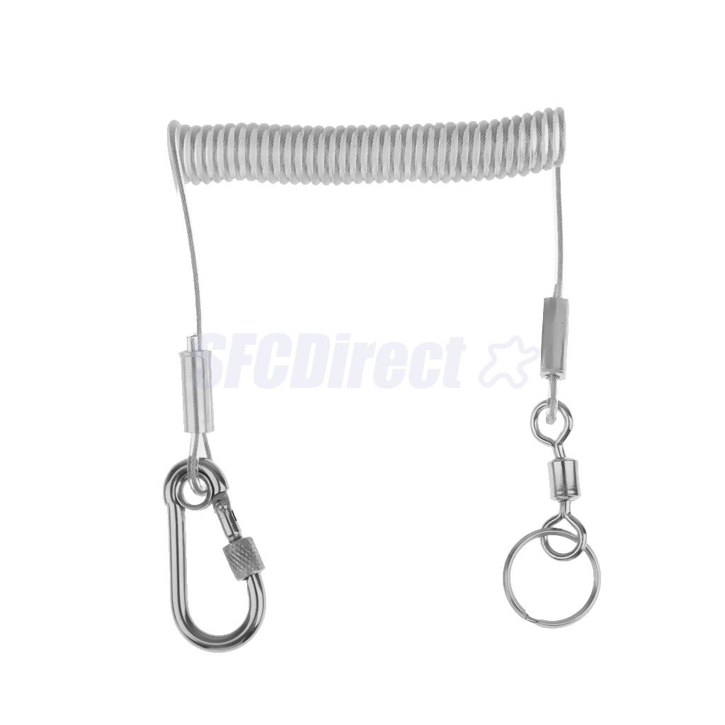 Wholesale 1 4m Retractable Steel Wire Coiled Lanyard