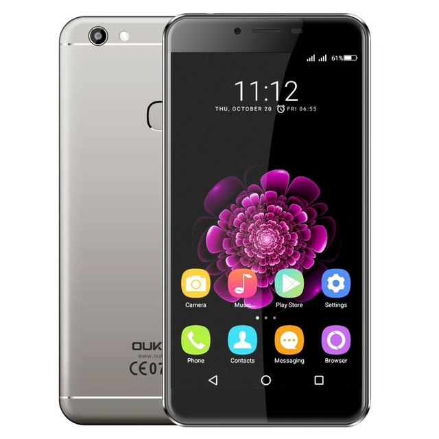 "Original Oukitel U15S 5.5""FHD Screen Octa Core 4GB RAM 32GB ROM MTK6750T Android 6.0 13.0MP 2450mAh Fingerprint Mobile Phone"
