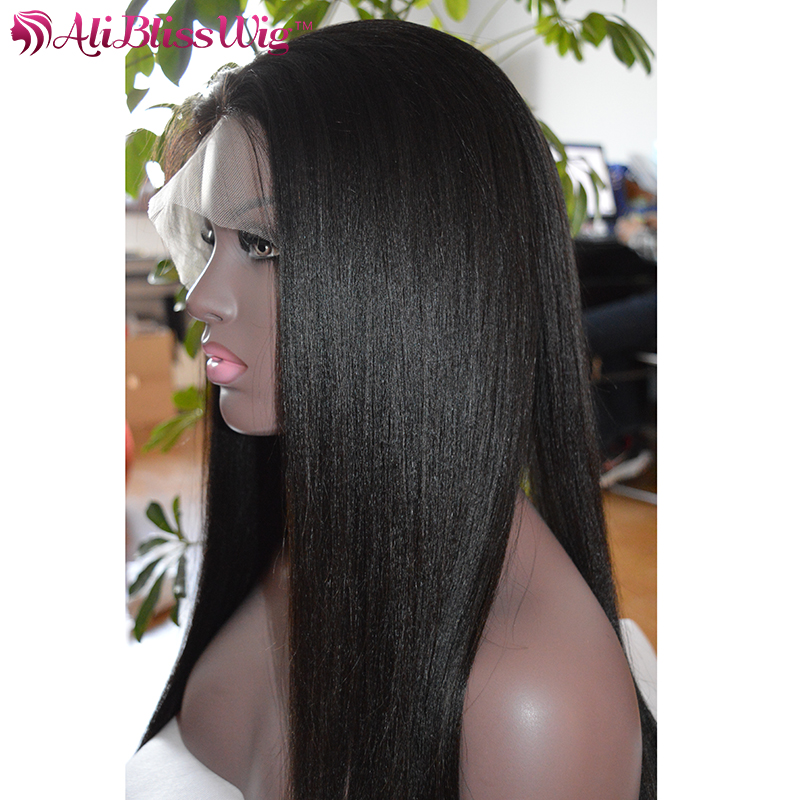 7A Natural Looking Light Yaki Straight Full Lace Human