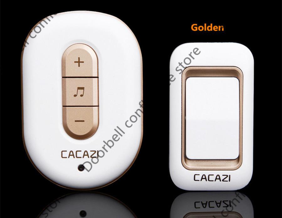 AC110-220V תקע-300 מטר שלט רחוק דיגיטלי עמיד למים 2 פעמון חתול כפתורים+6 פעמון מקלטי אלחוטי פעמון