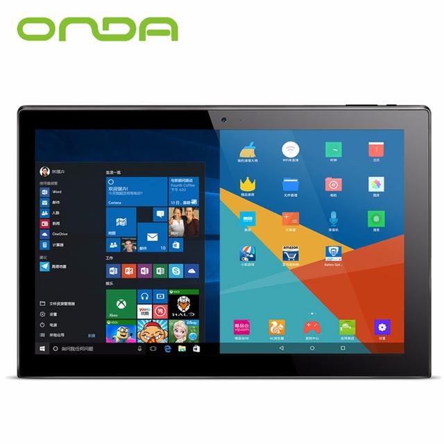 "Новое Прибытие Onda OBook 20 Плюс 10.1 ""Tablet PC 4 ГБ 64 ГБ Windows10 & Android 5.1 Intel Cherry Trail Z8300 Wi-Fi IPS OTG Hdmi USB"