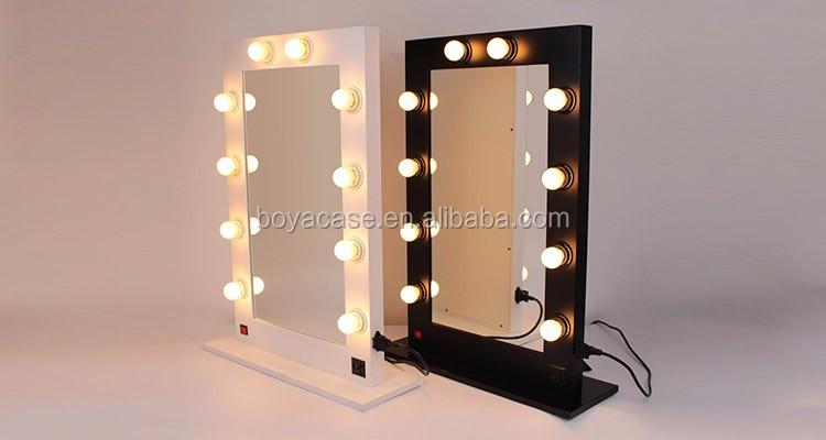 Grand Bureau En Bois Cadre Lumineux Hollywood Maquillage