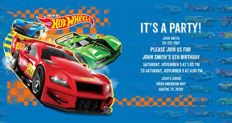 hot wheels invitation info dan tips