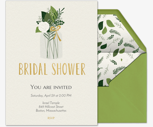 Green Bridal Shower Invitation