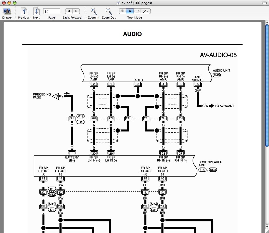 Infiniti G35 Audio Wiring Diagram Mercury Milan Pontiac Trans Sport G On Ford 500