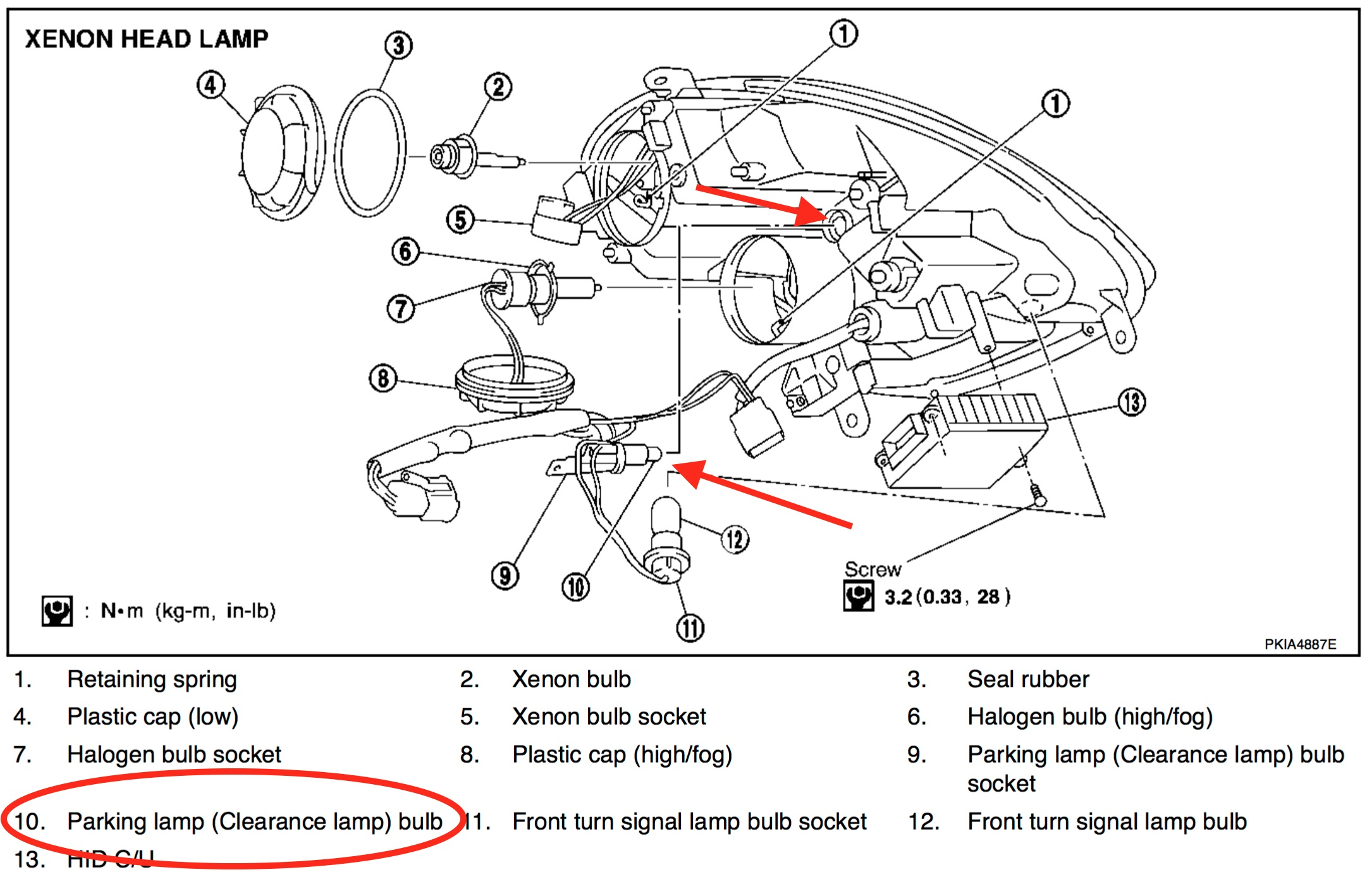 h4 bulb diagram nissan