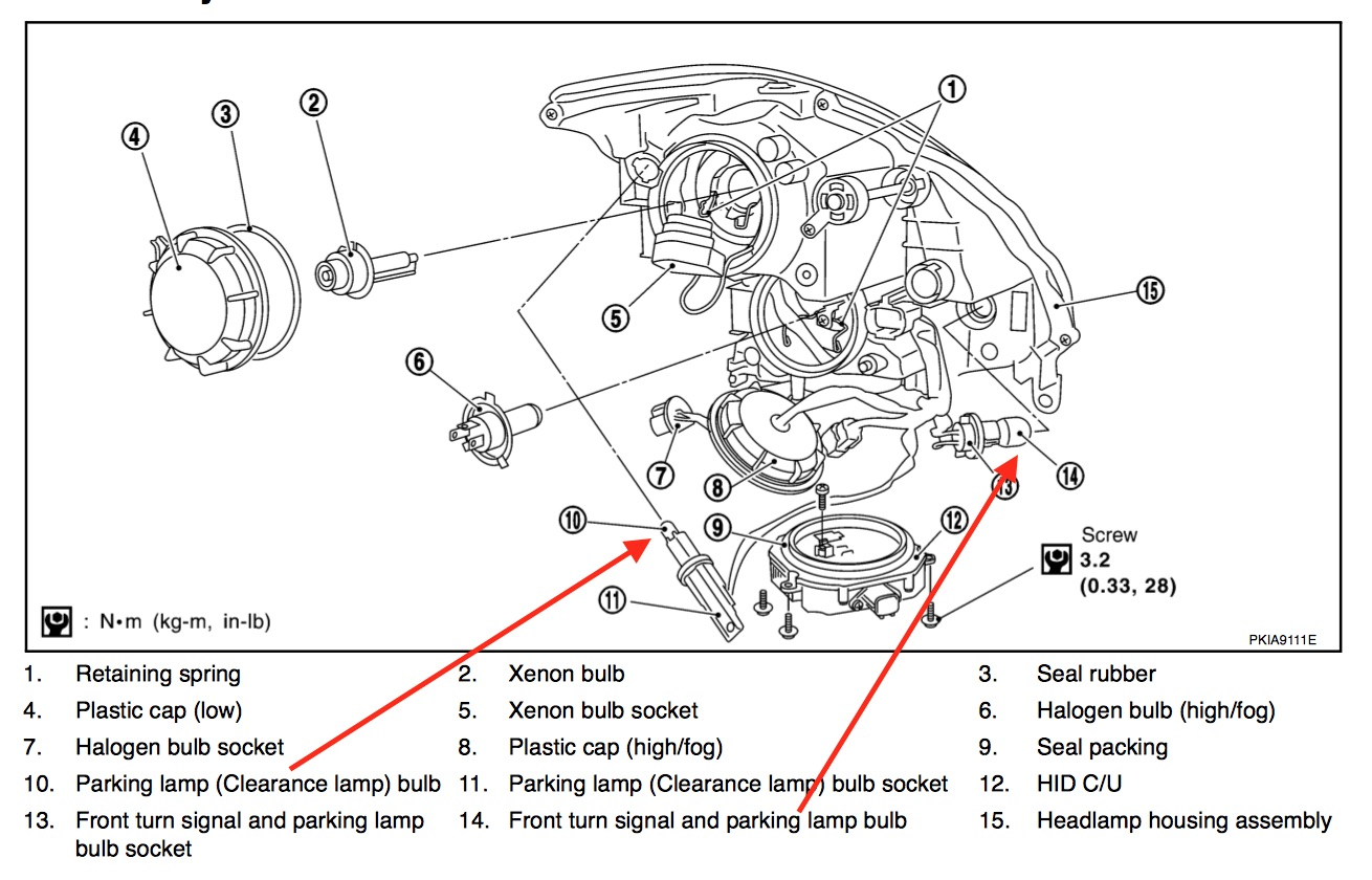 Xenon Headlight Wire Diagram