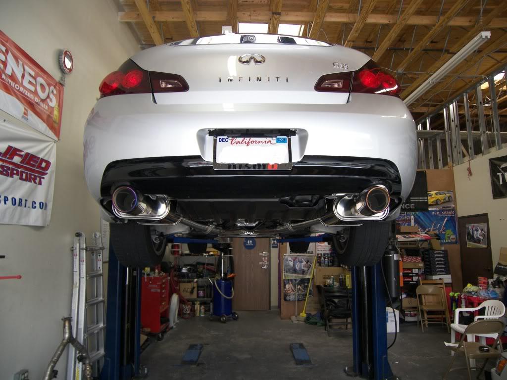 installed invidia q300 exhaust