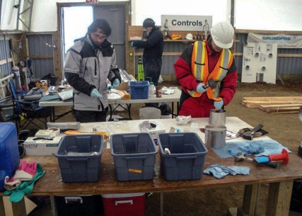 Applying COREDFN method to core samples at the BAFF