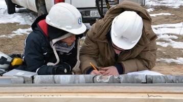Grad Students doing core logging