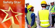Photo of field team receiving safety star