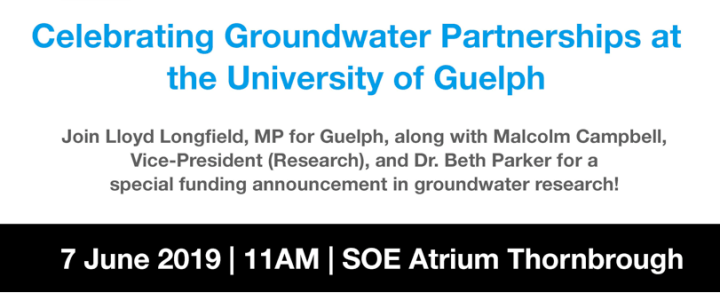 Groundwater Event at UoG - Invite Banner