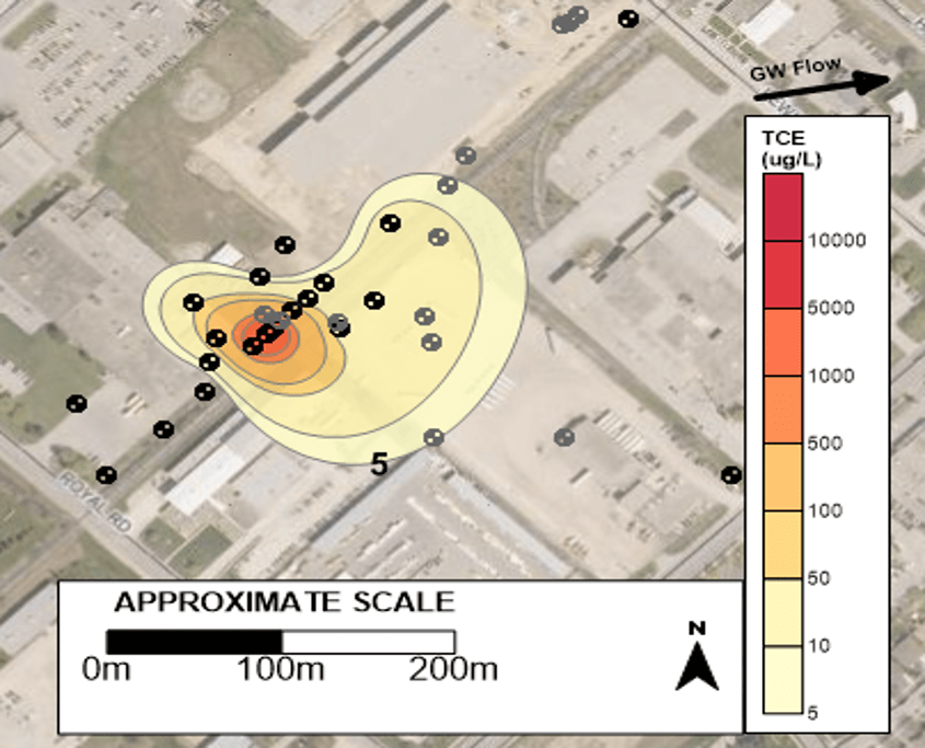 Assessment Of Tce Source Zone And Plume Evolution In