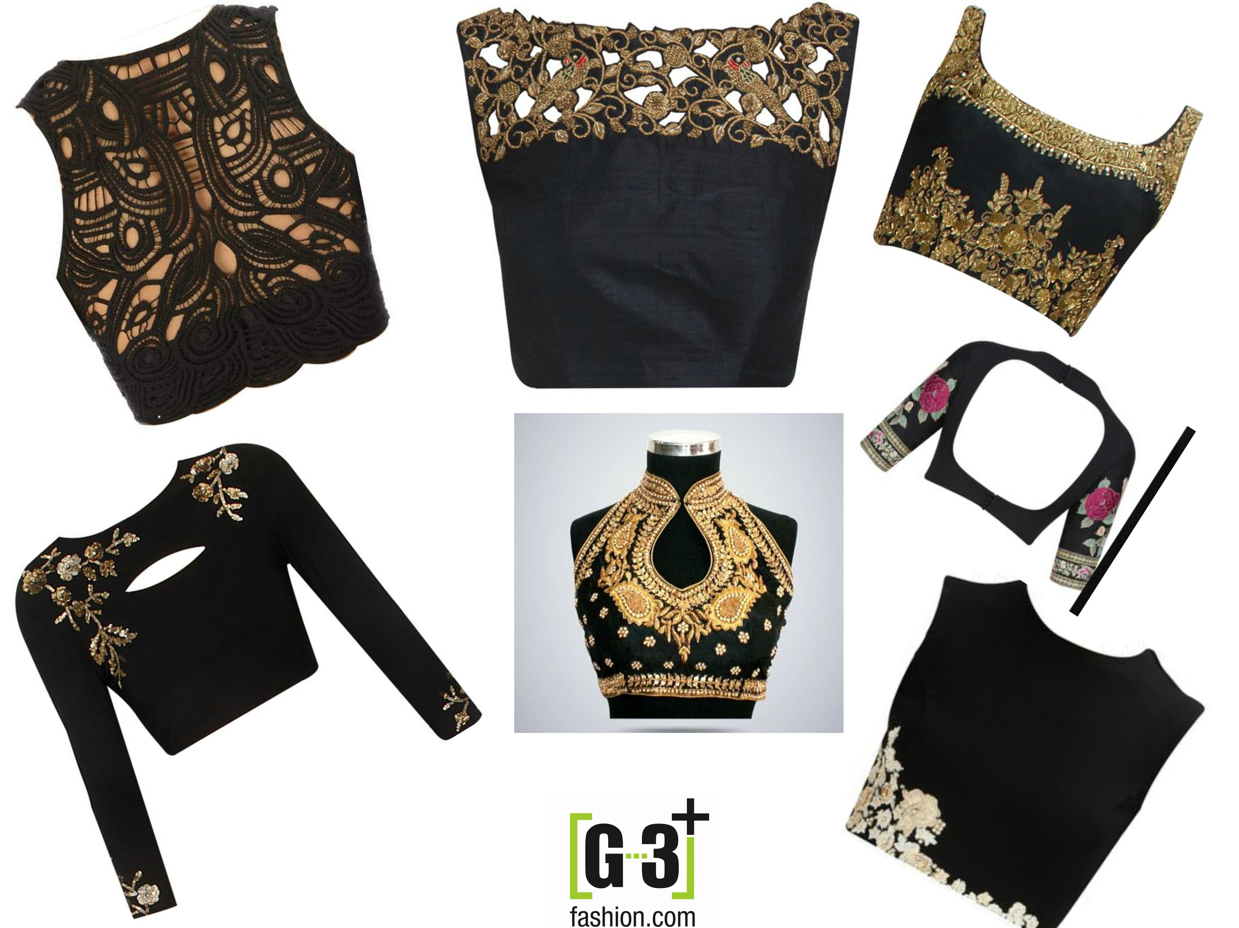 Top 12 Black Color Blouse Designs For Sarees To Try In 2018 G3