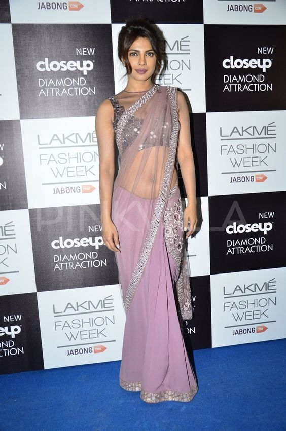 Priyanka wearing net saree