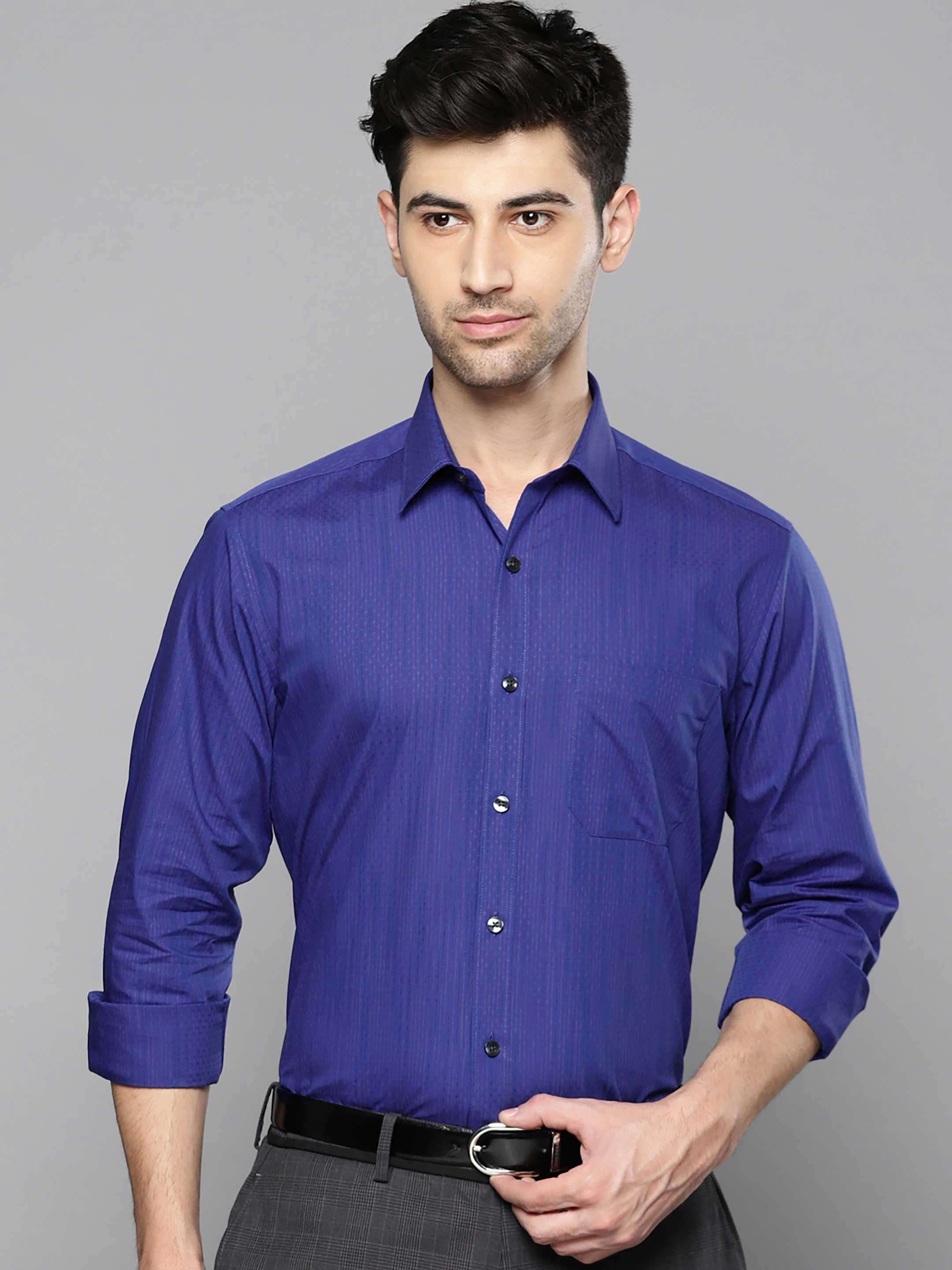 louis philippe royal blue shirt g3 mcs5107 g3fashion com