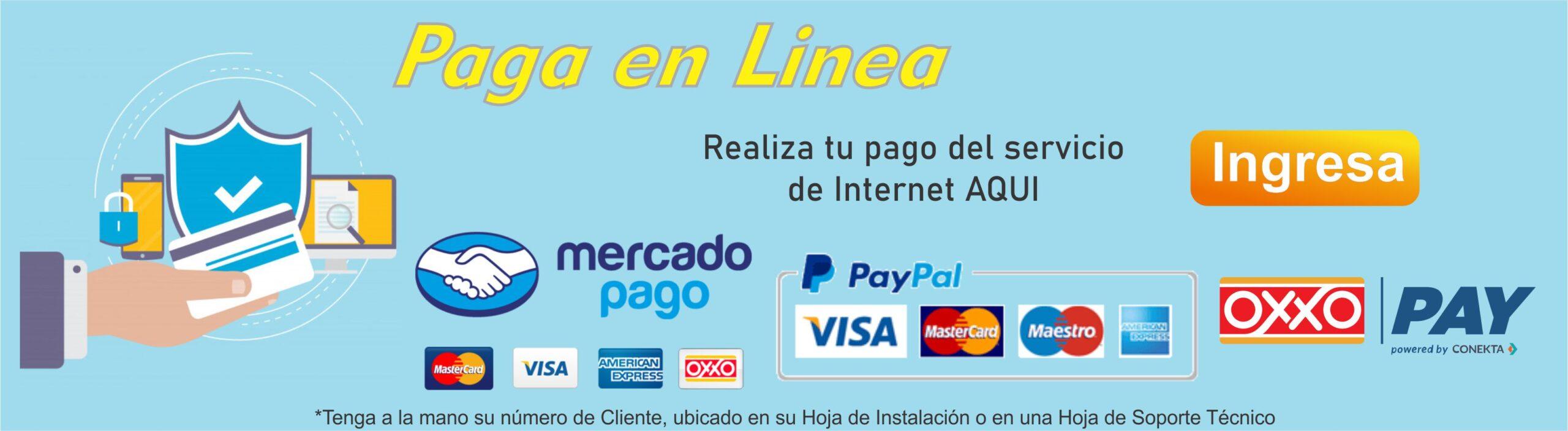 Paga aquí tu servicio de Internet