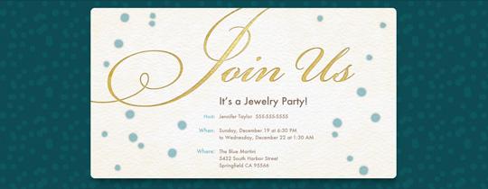 Fundraiser Invitation Wording Ideas – Jewelry Party Invite Wording