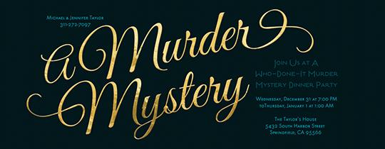 Murder Mystery Invitation Template Do On A Dime