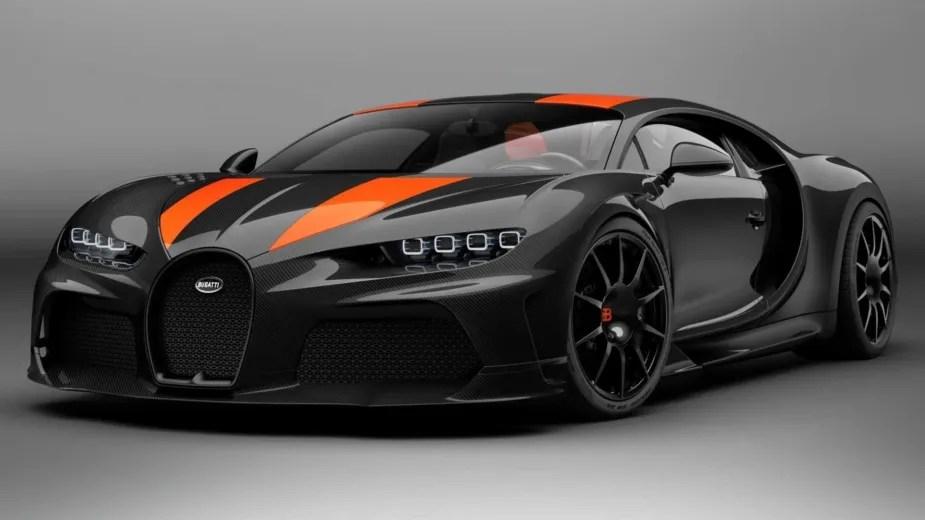 Bugatti Chiron teste alta velocidade