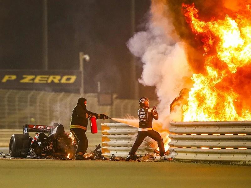 Acidente de Romain Grosjean no GP do Bahrein