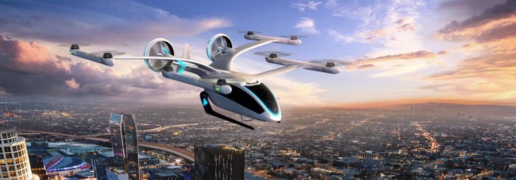 Carro voador de Embraer - Veículo elétrico de pouso e decolagem vertical (eVTOL)