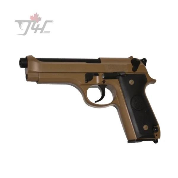"""Beretta 92S Italian Police Surplus 9mm 4.9"""" BRL Tan"""