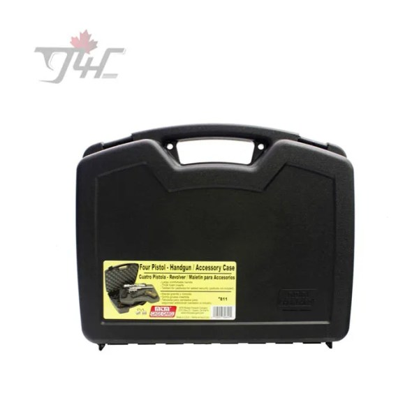 MTM 4-Handgun Case Black