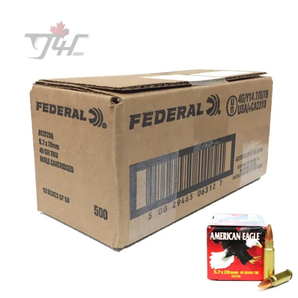 Fed. American Eagle 5.7x28mm 40gr. FMJ 500rds