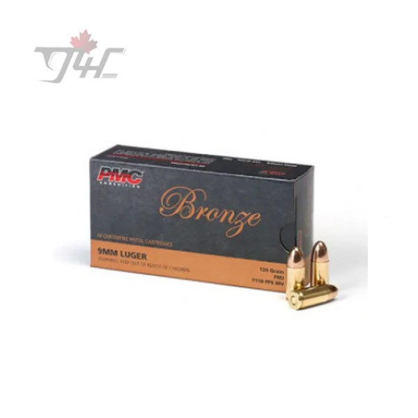 PMC Bronze 9mm Luger 115gr. FMJ 50rds