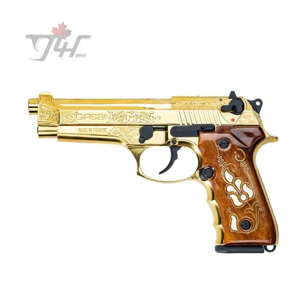 "Girsan Regard MC 9mm 4.9"" BRL Full Gold Engraved"