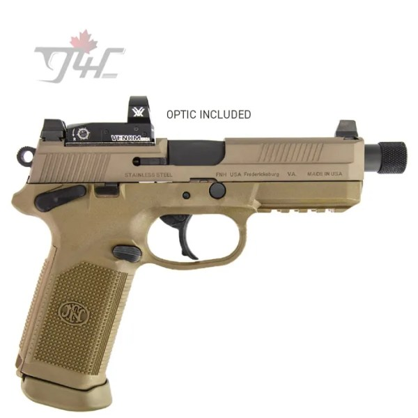 "FN FNX-45 Tactical w/Vortex Venom .45ACP 5.3"" BRL FDE"