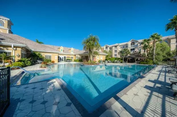 enjoy our heated pool at aston gardens at pelican pointe