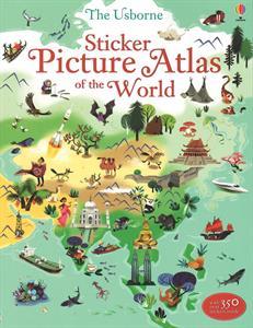 Homeschool Kindergarten Curriculum - Sticker Picture Atlas of the World