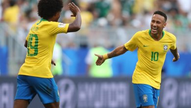Foto de Brasil passa pelo México na Copa da Rússia