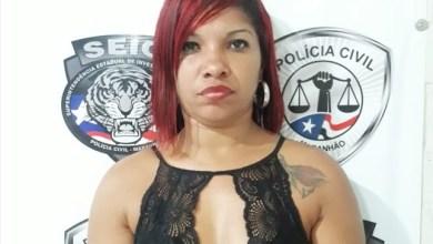 Foto de Mulher é presa acusada de assalto a banco no MA