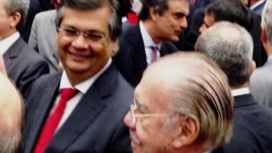 Foto de Flávio Dino troca ideias com José Sarney