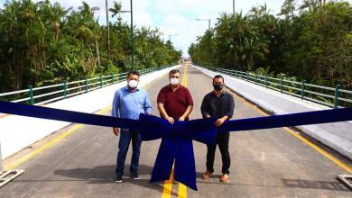 Foto de Flávio Dino inaugura Ponte Verde que liga estradas de Ribamar e da Maioba