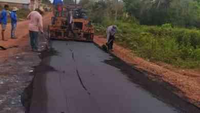 Foto de Prefeitura de Bequimão está asfaltado a Avenida Principal do bairro Estiva