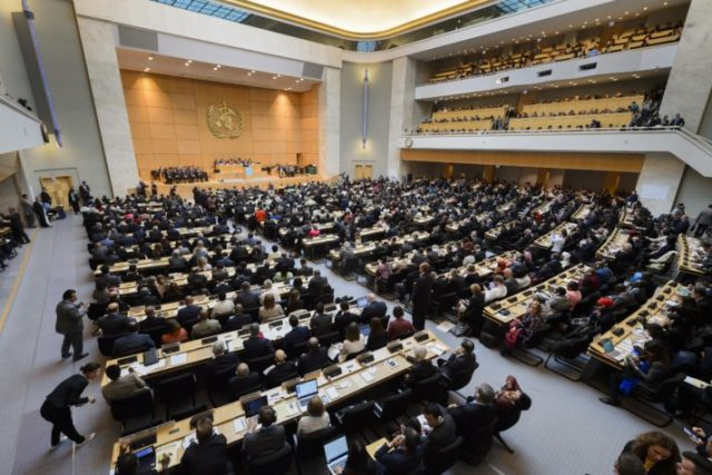 The opening of the World Health Assembly in 2016 in Geneva | Fabrice Coffrini/AFP via Getty Images