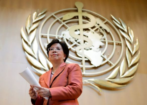 Outgoing WHO chief Margaret Chan   Fabrice Coffrini/AFP via Getty Images