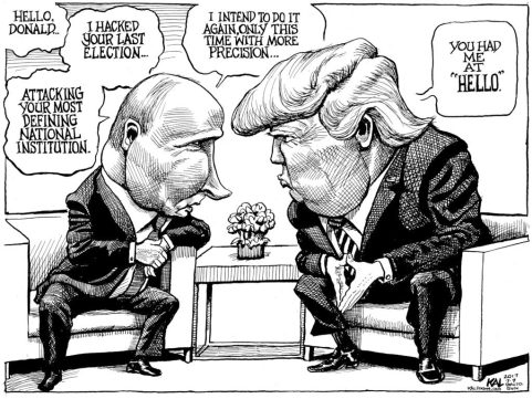 Image result for foreign Trump Cartoons
