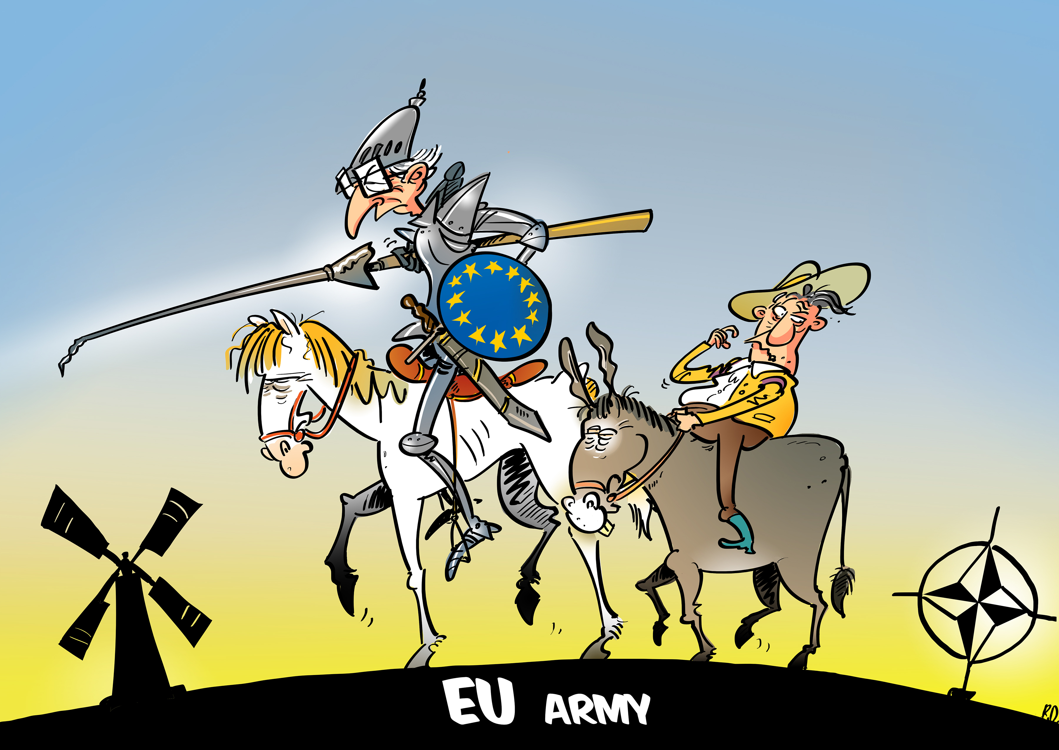Image result for eu army cartoon