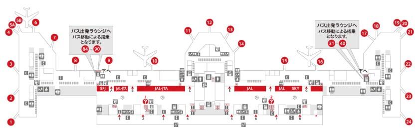 羽田空港第1の見取り図