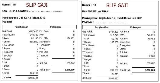 Gaji ke-13 PNS Tahun 2013