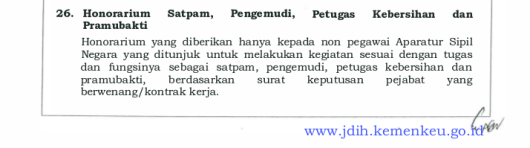 Keterangan tambahan honorarium satpam dkk 2016-1
